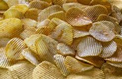Chip dorati del fondo con struttura Fotografia Stock Libera da Diritti