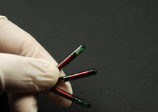 Chip ed etichette di RFID Immagine Stock Libera da Diritti