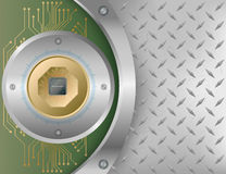 chip elektronicznego royalty ilustracja