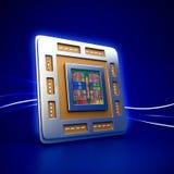 Chip för datorCPU (enhet för central processor) Arkivbild