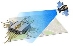 chip för gps 3d vektor illustrationer