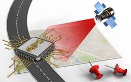 chip för gps 3d Arkivfoto