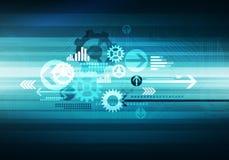Chip för pilar för bakgrund för Digital begreppsmässig affärsteknologi Arkivfoto