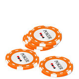 Chip for game of poker Stock Images