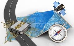 Chip gps-3d Lizenzfreies Stockbild