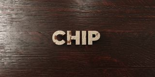 Chip - grungy hölzerne Schlagzeile auf Ahorn - 3D übertrug freies Archivbild der Abgabe Lizenzfreie Stockbilder