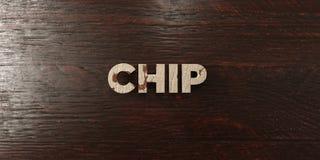 Chip - grungy trärubrik på lönn - 3D framförd fri materielbild för royalty Royaltyfria Bilder