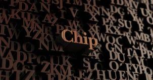 Chip - hölzernes 3D übertrug Buchstaben/Mitteilung Lizenzfreies Stockfoto