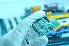 Chip high-technology Fotografia Stock Libera da Diritti