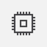 Chip icon, vector logo, linear pictogram isolated on white, pixel perfect illustration. Chip icon, vector logo, linear pictogram isolated on white, pixel vector illustration