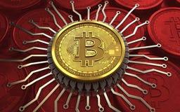 chip integrato bitcoin 3d Immagine Stock Libera da Diritti
