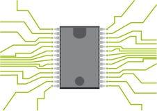 Chip Komputerowy ilustracja wektor