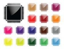 Chip Komputerowy ikona ilustracja wektor
