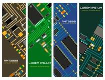 Chip komputerowy technologii procesoru obwodu płyty głównej systemu informacyjnego wektoru ilustracja royalty ilustracja