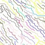 Chip Lines Seamless Pattern micro colorido Vector Imagen de archivo