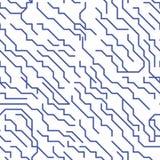 Chip Lines Seamless Pattern micro colorido Vector Imagenes de archivo