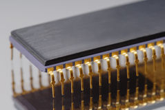 Chip macro. Macro detail of an IC-Chip Stock Image