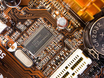 Chip on mainboard Stock Photo