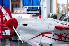 Chip Mapoles`s plane no.40 `Miss USA` aircraft model Cassutt Slipknot in Air Race 1 World Cup Thailand 2017 at U-Tapao Air Base Royalty Free Stock Photography