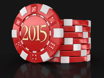 Chip Of Casino 2015 (clipping Path Included) Stock Image