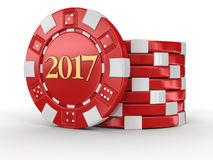 Chip Of Casino 2017 Stock Image