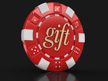 Chip Of Casino Gift (clipping Path Included) Royalty Free Stock Photo