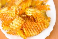 Chip - patata fritta Fotografie Stock Libere da Diritti