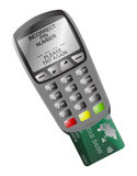Chip And Pin Machine Incorrect Pin Royalty Free Stock Image