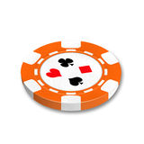 Chip for playing a poker and roulette Stock Photography