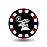 Chip poker casino Christmas new year. Icon illustration EPS 10 on white easy to separate the background. use for sites, de stock illustration