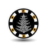 Chip poker casino Christmas new year. Icon illustration EPS 10 on white easy to separate the background. use for sites, de royalty free illustration