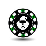 Chip poker casino Christmas new year. Icon illustration EPS 10 on white easy to separate the background. use for sites, de. Chip poker casino Christmas new year royalty free illustration