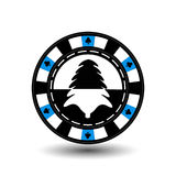 Chip poker casino Christmas new year. Icon  illustration EPS 10 on white easy to separate the background.  use for sites, de Royalty Free Stock Photos