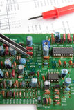 Chip and printed circuit board Royalty Free Stock Image