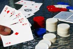chip ręce pokera. Zdjęcia Royalty Free