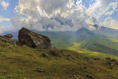Chip rocks in the mountains National Park Shahdag(Azerbaijan) Royalty Free Stock Photos
