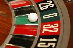 Chip & roulette di mazza Fotografia Stock