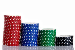 Chip in a row Royalty Free Stock Images