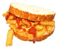 Chip Sandwich With Tomato Sauce Imagen de archivo