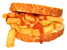 Chip Sandwich With Tomato Sauce Stock Image