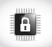 Chip security illustration design Royalty Free Stock Photography