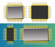 Chip set. Vector illustration of computer chip vector illustration