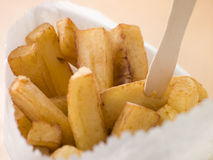 Chip Shop Chips in a Bag Royalty Free Stock Photography