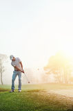 Chip shot golf Royalty Free Stock Photo