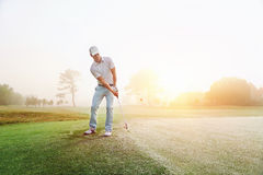 Chip shot golf Royalty Free Stock Images