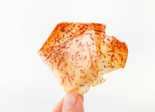 Chip snack in glass dishes stock image