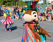 Chip in a street parade at Disneyworld Stock Photo