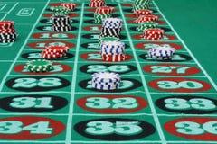 Chip sulle roulette Immagine Stock