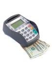 Chip und Pin auf Dollar Lizenzfreie Stockfotos