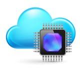 Chip und Wolke lizenzfreie abbildung